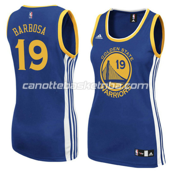 canotta basket donna leandro barbosa 19 golden state warriors blu