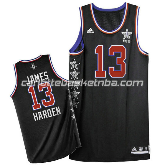 canotta basket james harden #13 nba all star 2015 nero