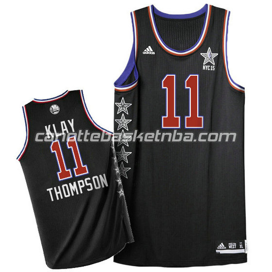 canotta basket klay thompson #11 nba all star 2015 nero