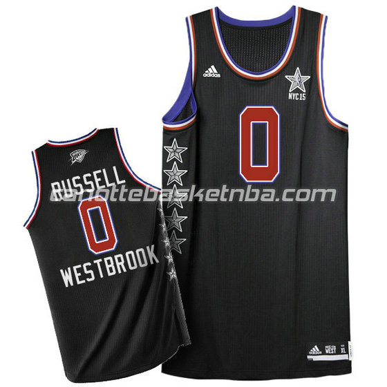 canotta basket russell westbrook #0 nba all star 2015 nero