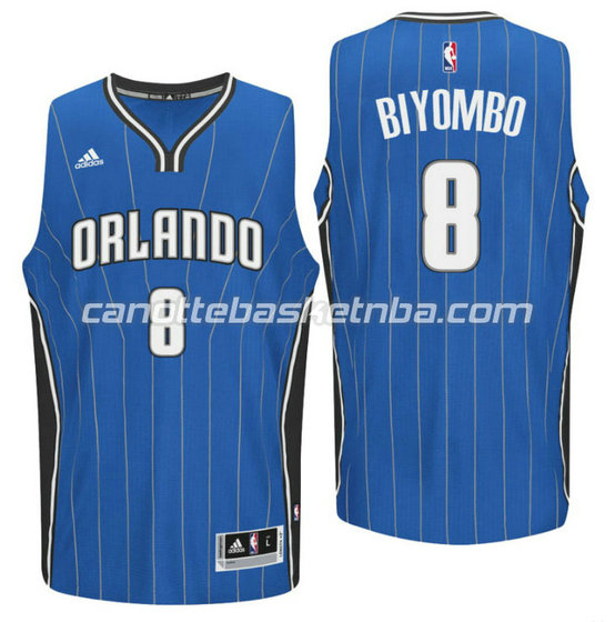 canotta bismack biyombo 8 orlando magic 2015-2016 blu
