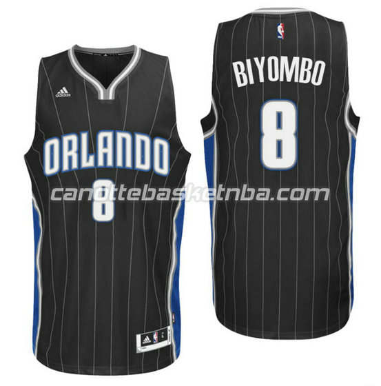 canotta bismack biyombo 8 orlando magic 2015-2016 nero