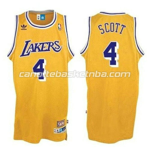 canotta nba byron scott #4 los angeles lakers giallo