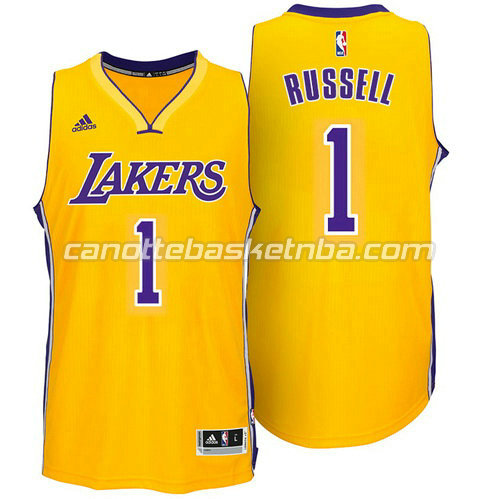canotta d'angelo russell #1 los angeles lakers 2014-2015 giallo