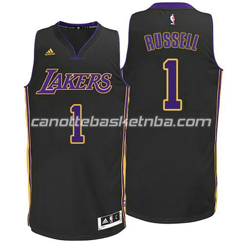canotta d'angelo russell #1 los angeles lakers 2014-2015 nero