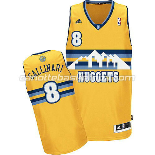 canotta danilo gallinari #8 denver nuggets rev30 giallo