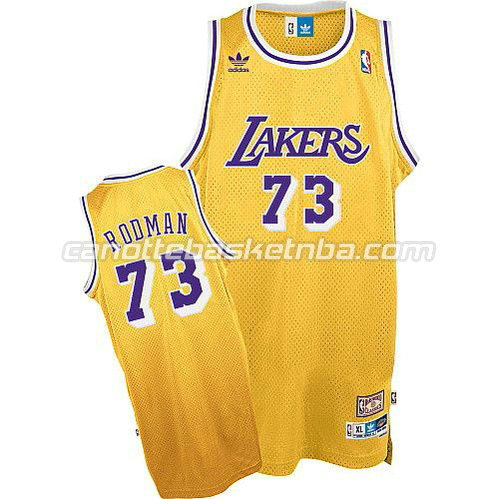 canotta los angeles lakers con dennis rodman #73 giallo