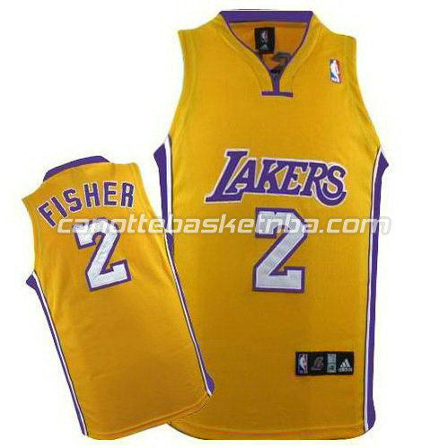 canotte basket los angeles lakers derek fisher #2 giallo