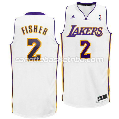 canotta derek fisher #2 los angeles lakers revolution 30 bianca
