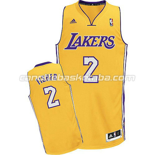 canotta derek fisher #2 los angeles lakers revolution 30 giallo
