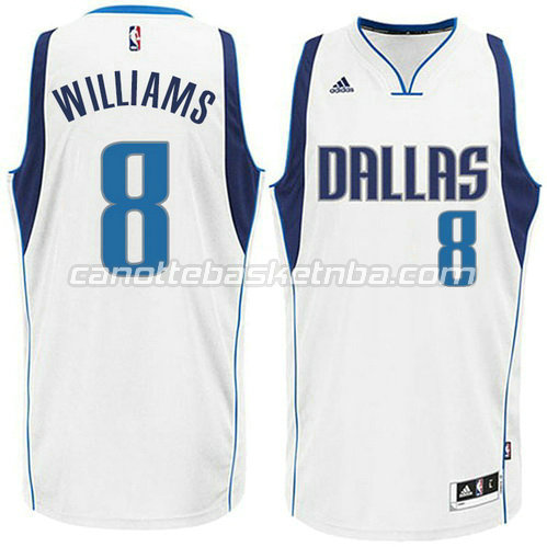 canotta deron williams #8 dallas mavericks 2015 bianca