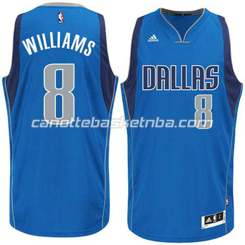 canotta basket deron williams #8 dallas mavericks 2015 blu