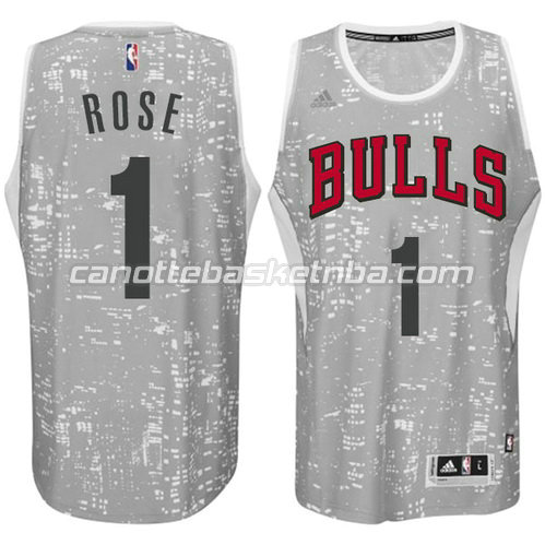 canotta derrick rose #1 chicago bulls lights grigio