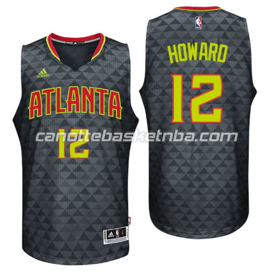 canotta dwight howard 12 atlanta hawks 2015-2016 nero