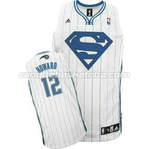 canotta dwight howard #12 orlando magic superuomo bianca