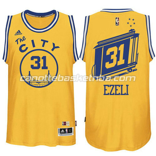 canotta festus ezeli #31 golden state warriors classico giallo