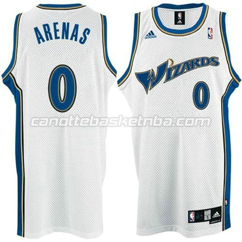 canotta washington wizards con gilbert arenas #0 bianca