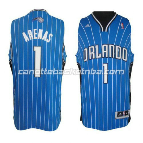 canotta gilbert arenas #1 orlando magic revolution 30 blu