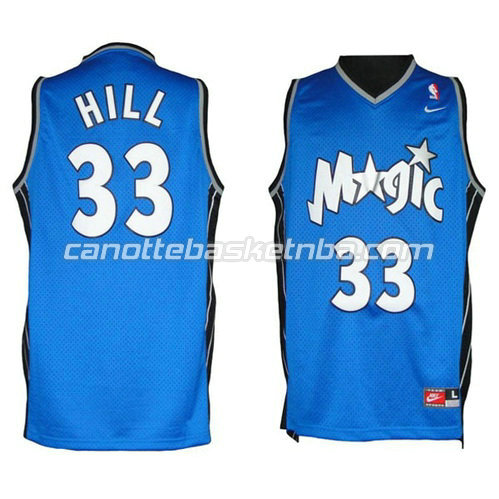 canotte basket grant hill #33 orlando magic soul blu