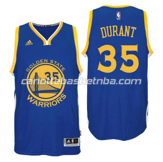 canotta kevin durant 35 golden state warriors 2016 blu