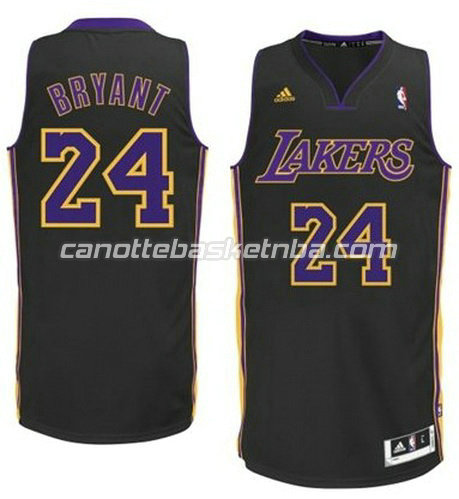 canotta los angeles lakers con kobe bryant #24 nero