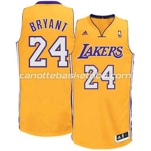 canotta kobe bryant #24 los angeles lakers revolution 30 giallo