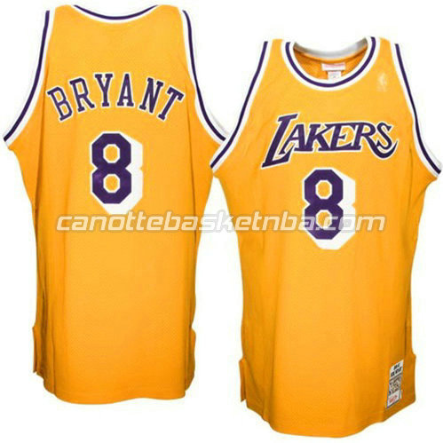 canotta kobe bryant #8 los angeles lakers 1996-1997 giallo