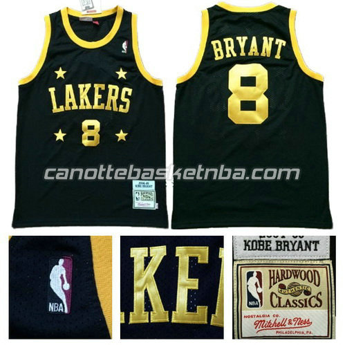 canotta kobe bryant #8 los angeles lakers classico nero
