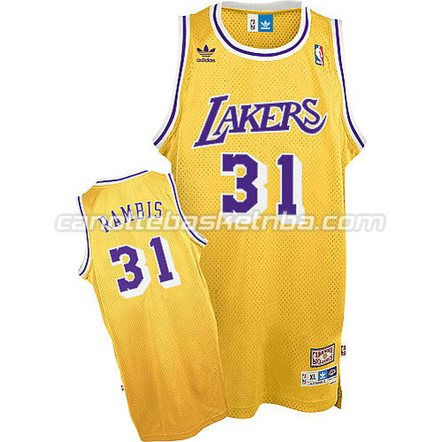 canotta kurt rambis #31 los angeles lakers soul giallo