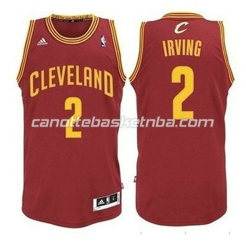 maglia kyrie irving #2 cleveland cavaliers revolution 30 rosso