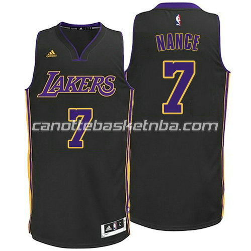 canotte basket los angeles lakers larry nance #7 nero