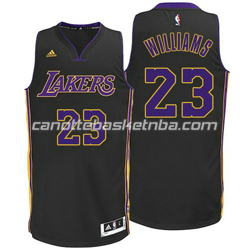 canotta los angeles lakers con lou williams #23 nero