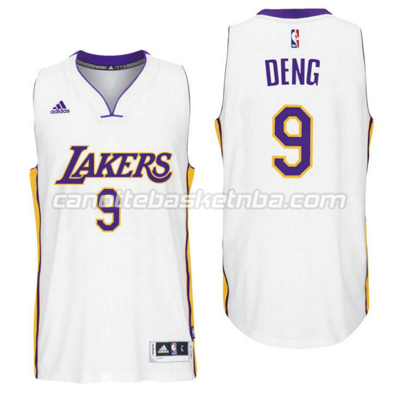 canotte nba luol deng 9 los angeles lakers 2016 bianca