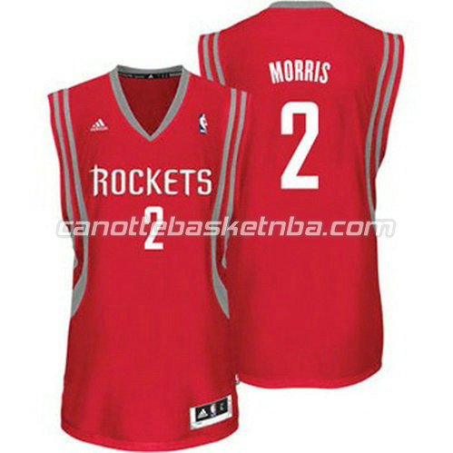 canotta marcus morris #2 houston rockets revolution 30 rosso