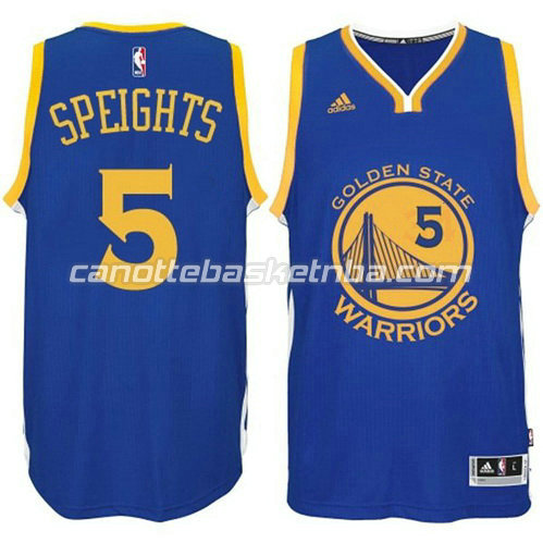 canotta marreese speights #5 golden state warriors 2014-2015 blu