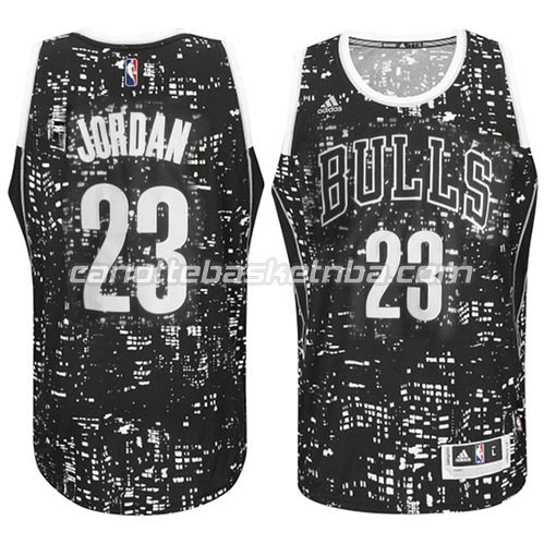 canotta michael jordan #23 chicago bulls lights nero