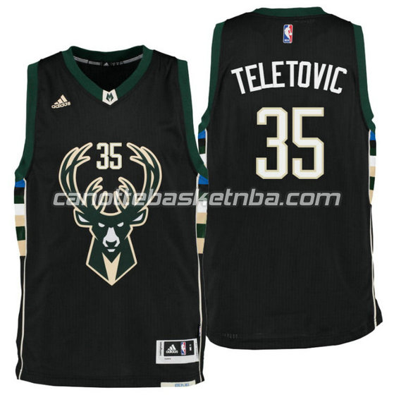 canotta mirza teletovic 35 milwaukee buck draft 2016 nero