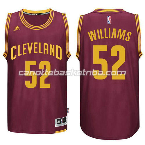 canotta cleveland cavaliers 2014-2015 mo williams #52 rosso