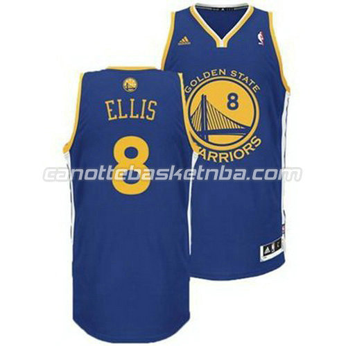 canotta monta ellis #8 golden state warriors revolution 30 blu