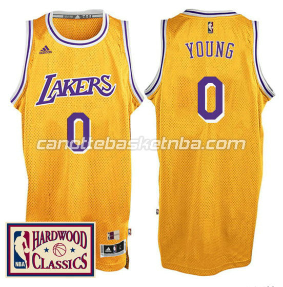 canotta nick young 0 los angeles lakers 2016 2017 giallo