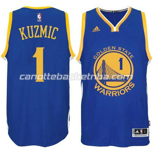 canotta ognjen kuzmic #1 golden state warriors 2014-2015 blu