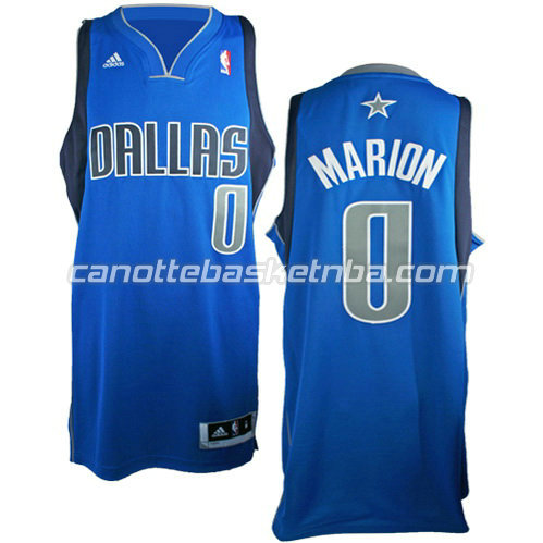 canotta shawn marion #0 dallas mavericks revolution 30 blu