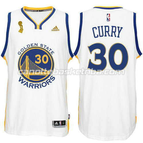 canotta stephen curry 30 golden state warriors campioni 2015 bianca