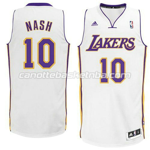 canotta los angeles lakers steve nash #10 revolution 30 bianca