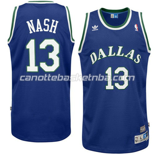 canotta dallas mavericks con steve nash #13 swingman blu