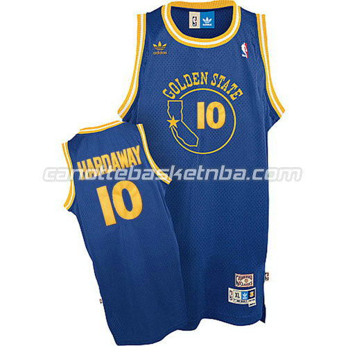 canotte golden state warriors con tim hardaway #10 soul blu