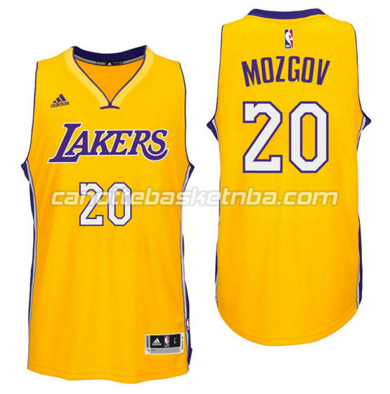 canotta timofey mozgov 20 los angeles lakers 2016 giallo