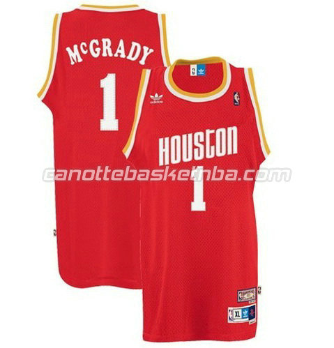 canotte nba tracy McGrady #1 houston rockets soul rosso
