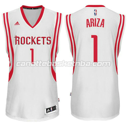canotte basket trevor ariza #1 houston rockets bianca