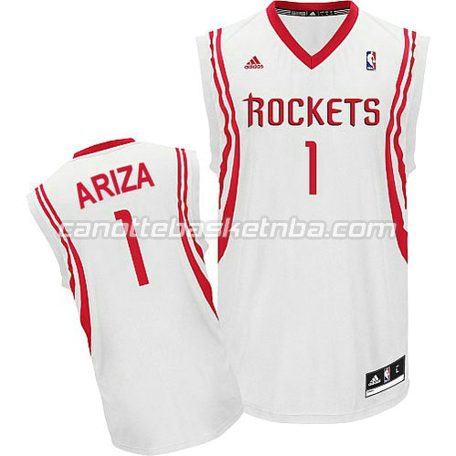 canotte nba trevor ariza #1 houston rockets revolution 30 bianca